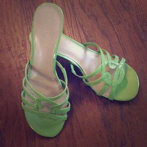 Cato Ladies Sz 7M lime green pumps heels NEW